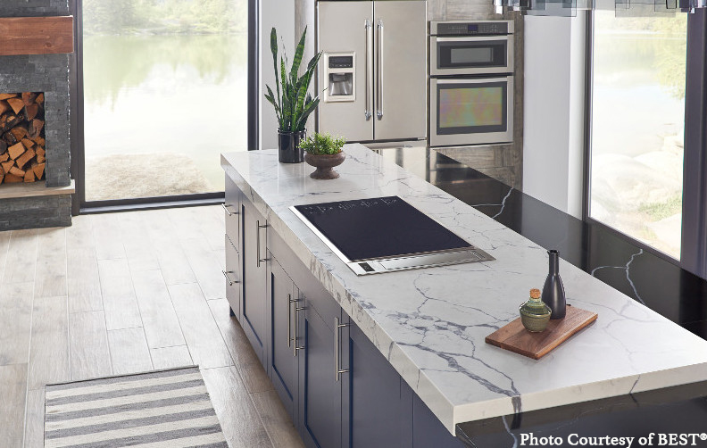 marble counter, minalist kitchen design