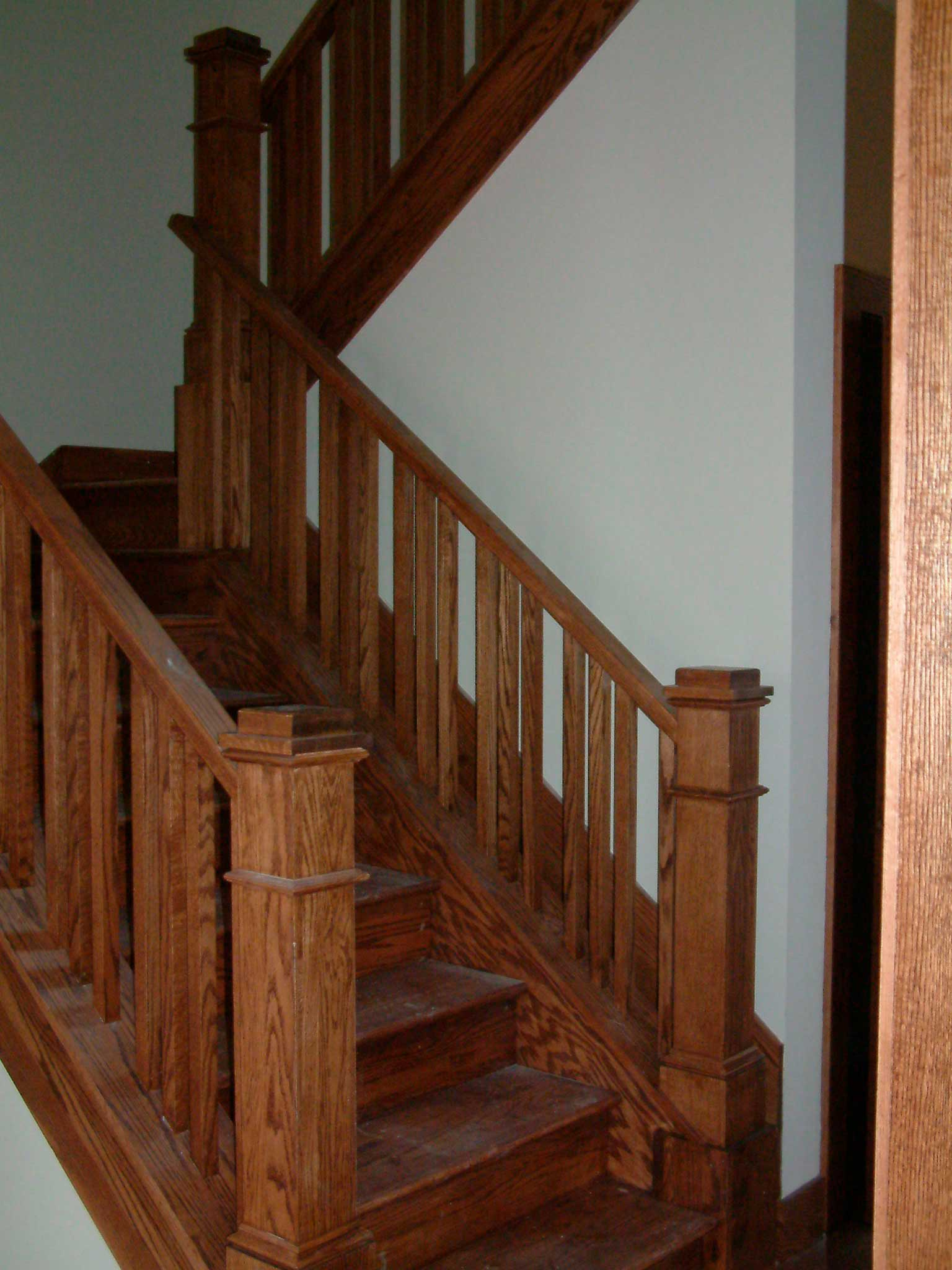 Custom stair railing