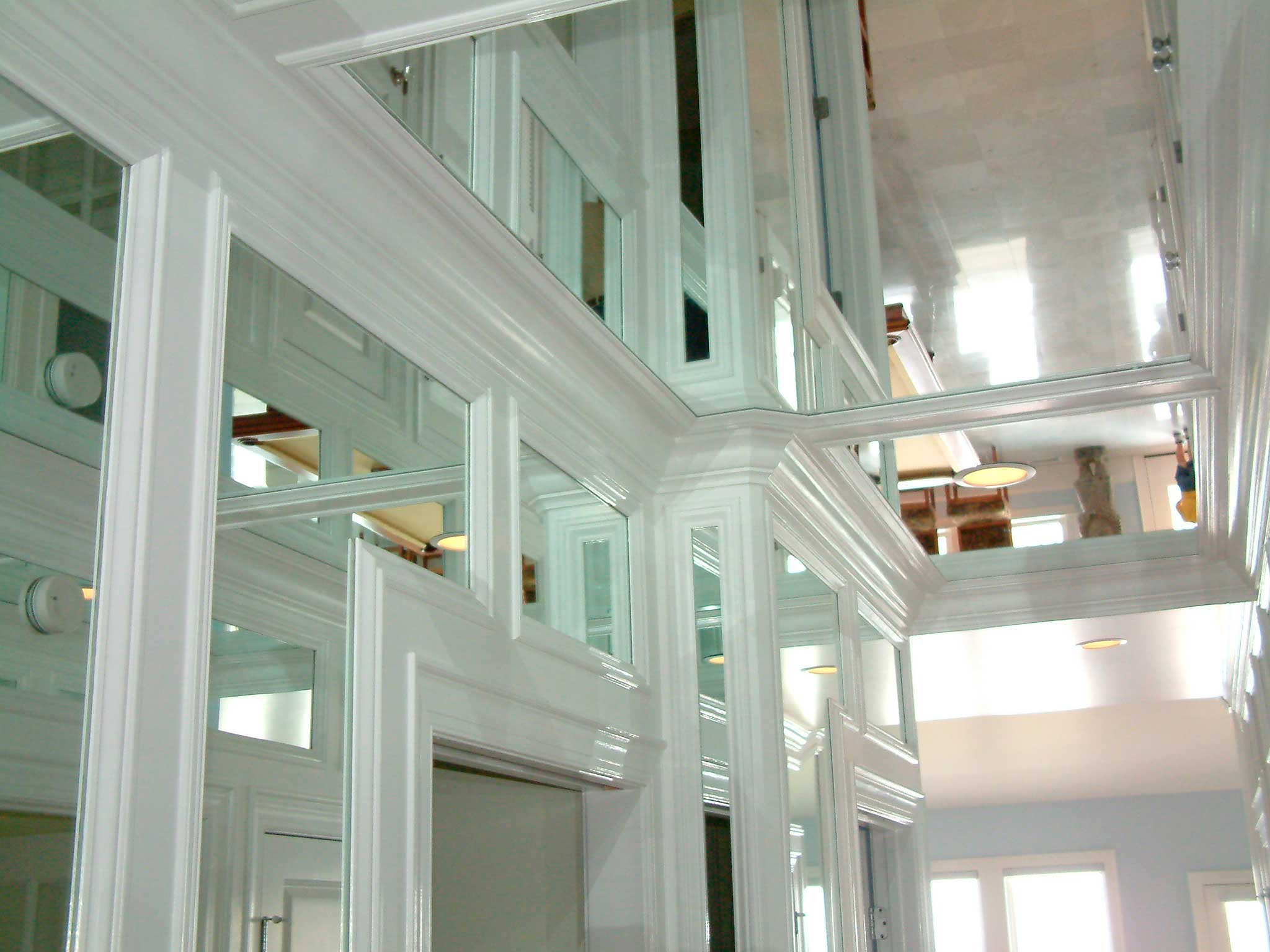 Mirrored entryway